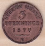 Royaume De Prusse, 3 Pfenninge 1870 B - Wilhelm I, KM# 482 - Small Coins & Other Subdivisions