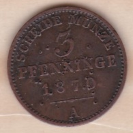 Royaume De Prusse, 3 Pfenninge 1870 A - Wilhelm I, KM# 482 - Small Coins & Other Subdivisions