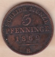 Royaume De Prusse, 3 Pfenninge 1869 B - Wilhelm I, KM# 482 - Small Coins & Other Subdivisions