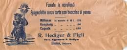 """08862 """"ROMA-SACCHETTO RECLAME DEL GIORNALE-IL TABACCO-I QUARTO XX SECOLO - R. HEDIGER & FIGLI -BIENNE"""" - Pubblicitari"""