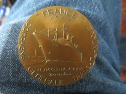 Médaille  FRANCE -LE HAVRE NEW YORK- 1962 Compagnie Générale Transatlantique GRAVEUR -JH COËFFIN - France