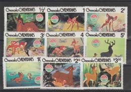 Disney Grenada Grenadines 1980 Série 369-77 9 Val ** MNH - Disney