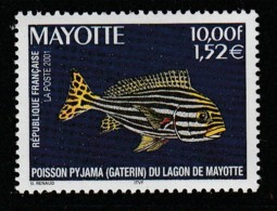 MAYOTTE -  N° 102 ** (2001)  Poisson - Mayote (1892-2011)