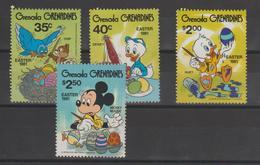 Disney Grenada Grenadines 1981 Série 385-88 4 Val ** MNH - Disney