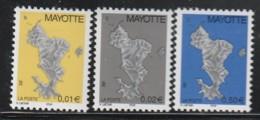 MAYOTTE -  N° 150/2 ** (2004) Série Courante - Carte De L'île - Nuovi