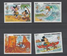 Disney Grenada Grenadines 1985 Série 619-22 4 Val ** MNH - Disney