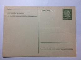 GERMANY - Postcard - Ostland Overrprint Of 5pf Hitler Unused - Allemagne
