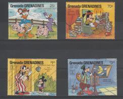 Disney Grenada Grenadines 1987 Série 809-12 4 Val ** MNH - Disney