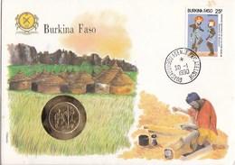 Burkina Faso -muntbrief - Woche Der Bobo-Kultur - Tänzer Und Tänzerin - M 1107 - Burkina Faso (1984-...)
