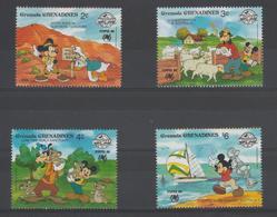 Disney Grenada Grenadines 1988 Série 874-77 4 Val ** MNH - Disney