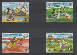 Disney Grenada Grenadines 1988 Série 882-85 4 Val ** MNH - Disney
