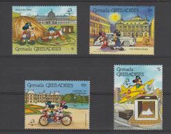 Disney Grenada Grenadines 1989 Série 998-1001 4 Val ** MNH - Disney
