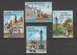 Disney Grenada Grenadines 1989 Série 1012-1015 4 Val ** MNH - Disney