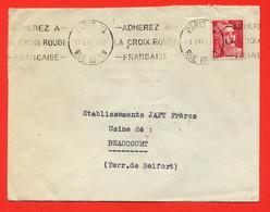 K33-PARIS 74-RUE BAYEN-12/01/1948-ADHEREZ A LA CROIX ROUGE FRANCAISE - Oblitérations Mécaniques (flammes)