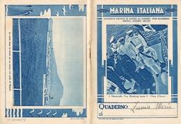 """08866 """"MARINA ITALIANA - IL MARESCIALLO VON BLOMBERG LASCIA IL DUCA D'AOSTA - NAPOLI 1937"""" QUADERNO - Vecchi Documenti"""