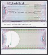 + EUROCHEQUE + Bank Check/ Chèque Bancaire - LLOYDS BANK / Porto, Portugal - Chèques & Chèques De Voyage