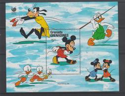 Disney Grenada Grenadines 1988 BF 143 ** MNH - Disney