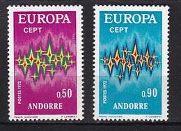 Europa CEPT - Andorra (Franse Zone) - MNH - M 238-239 - 1972