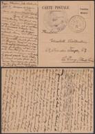 """France 1940 - CP En Franchise """" CAMP DE GURS """" + Cachet Contrôle Postal (6G21063) DC0775 - Marcophilie (Lettres)"""