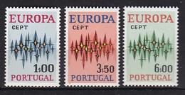 Europa CEPT - Portugal - MNH - M 1166-1168 - 1972