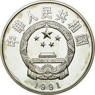 Monnaie, CHINA, PEOPLE'S REPUBLIC, 5 Yüan, 1991, FDC, Argent, KM:380 - Cina