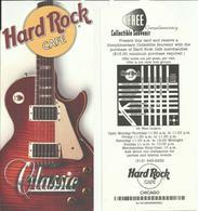 PLAQUETTE PUBLICITAIRE - HARD ROCK CAFE - CHICAGO - Reclame