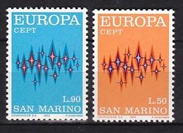 Europa CEPT - San Marino - MNH - M 997-998 - 1972
