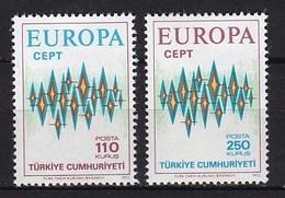 Europa CEPT - Turkije - MNH - M 2253-2254 - 1972