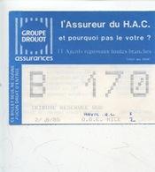 Ticket - Football - 02/08/1985 Match HAC Le Havre 1 - OGC Nice 2 (Drouot) - Tickets D'entrée