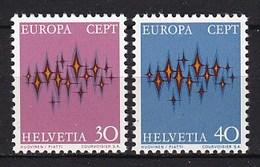 Europa CEPT - Zwitserland - MNH - M 969-970 - 1972