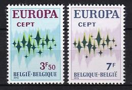 Europa CEPT - België - MNH - M 1678-1679 - 1972