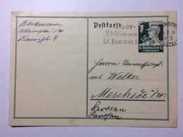GERMANY -  1934 Postcard - Mi P253 - Allemagne