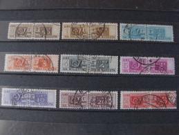"""ITALIA Repubblica - 1946-51 -""""Pacchi Postali""""  9 Val. US° (descrizione) - 6. 1946-.. Republik"""