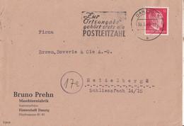 3 Doc Dt Cp Affr 6 & 12 Pfg ( Deutsc Reich ) + Pae 32 Danzig(.) Danzig 5/ Les 1.4.43 &30.3.44+ 182A /  L.* Danzig* / 16. - Danzig