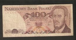T.  Poland Narodowy Bank Polski 100 Zlotych 1982 Ser. LM 2436169 - Polen