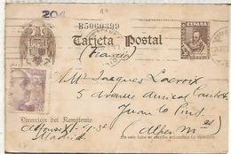 ESPAÑA  ENTERO POSTAL CERVANTES MADRID A FRANCIA - 1850-1931