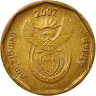 Monnaie, Afrique Du Sud, 20 Cents, 2007, Pretoria, TTB, Bronze Plated Steel - Afrique Du Sud