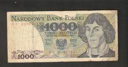 T.  Poland Narodowy Bank Polski 1000 Zlotych 1982 Ser. DF 0292364 Mikolaj Kopernik - Poland