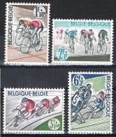 Année 1963 - COB   1255** à 1258**  -   80 Ans De La Ligue Vélocipédique Belge  -  Cote  1,50 € - Unused Stamps