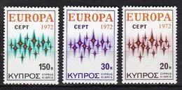 Europa CEPT - Cyprus - MNH - M 374-376 - 1972