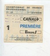 Ticket - Football - Championnat De France Professionnel 1ère Division Saison 1986/87 (HAC PSG) - Tickets D'entrée