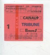 Ticket - Football - Championnat De France Professionnel 1ère Division (HAC PSG) - Tickets D'entrée
