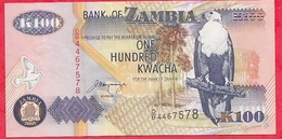 Zambie 100 Kwacha 2001 (sign 11) Dans L ' état - Zambie