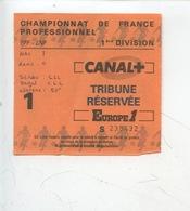 Ticket - Football - Championnat De France Professionnel 1ère Division (HAC Lens) - Tickets D'entrée