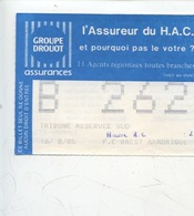 Ticket - Football - HAC _ FC Brest Armorique 16/08/1985 - Tickets D'entrée