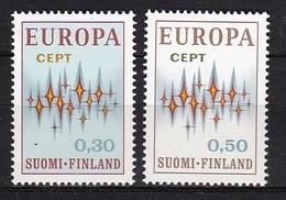 Europa CEPT - Finland - MNH - M 700-701 - 1972