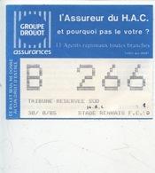 Ticket - Football - HAC _ FC Stade Rennais 30/08/1985 - Tickets D'entrée