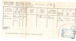 Chemins De Fer Suisses: De Pontarlier, Transport De Chalon-sur-Saône à Saint-Gall (1926) - Suisse