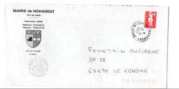 LETTRE DE MAIRIE DE NOHANENT PUY DE DOME - Storia Postale