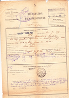 Réclamation De Colis Postal De Chalon-sur-Saône  à Oudjda (Maroc) (1927) - France